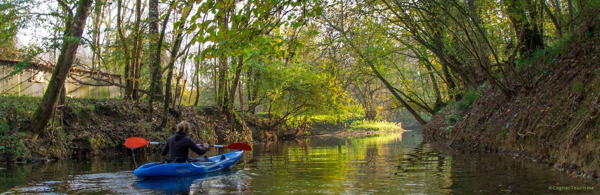 Charente le fleuve. canoé Kayak